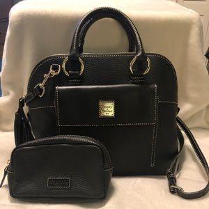 Dooney & Burke Satchel Crossbody Leather Bag NWOT
